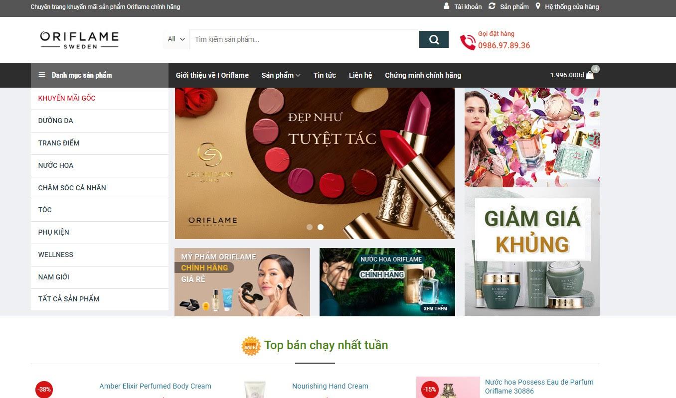 Top 5 nơi mua oriflame chính hãng, giá tốt nhất hiện nay
